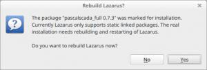Rebuild Lazarus confirmation